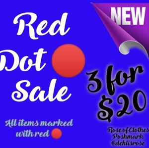 3 for $20 marked with 🔴🔴Closet Wipe out!!!